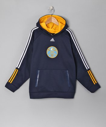 Navy Denver Nuggets Fleece Pregame Hoodie - Kids