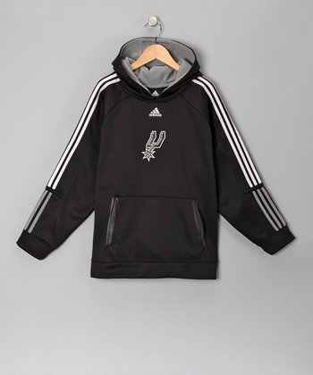 Black San Antonio Spurs Fleece Pregame Hoodie - Kids