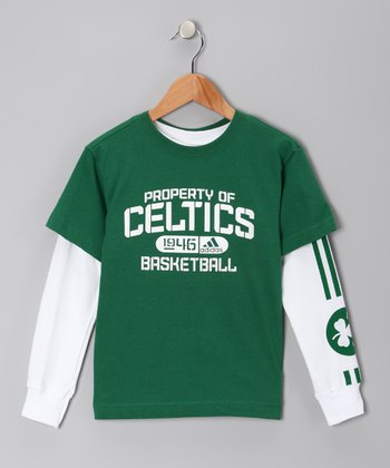 Green Boston Celtics Tee Set - Kids
