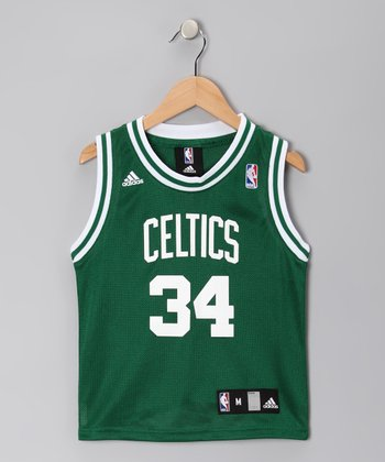 Green & White Boston Celtics Pierce Replica Jersey - Kids