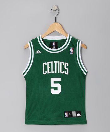 White & Green Boston Celtics Garnett Replica Jersey - Kids