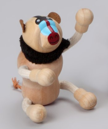 Baboon Wooden Toy
