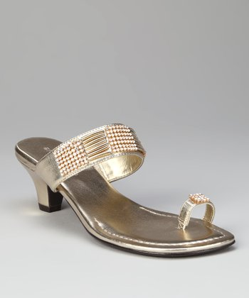 ann marino Gold Illusion Sandal