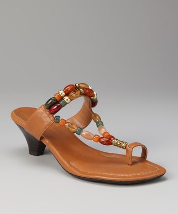 ann marino Tan Index Sandal