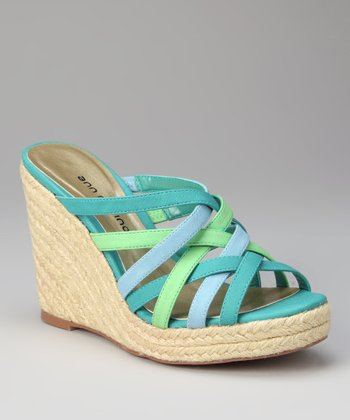 ann marino Teal Jubilee Wedge