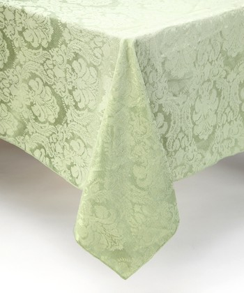 Sage Damask Tablecloth