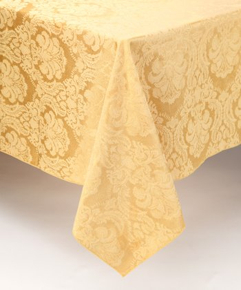 Butter Damask Tablecloth