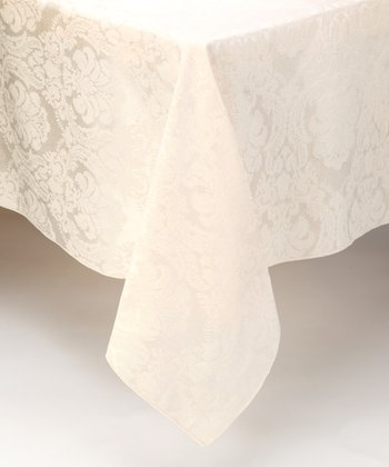Ecru Damask Tablecloth