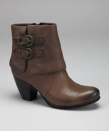 New Gray Trapise Ankle Boot