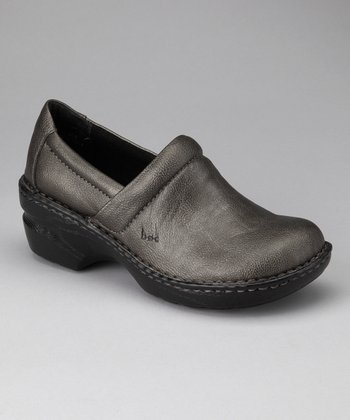Pewter Metallic Peggy Clog