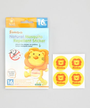 Natural Mosquito Repellent Sticker - Set of 16