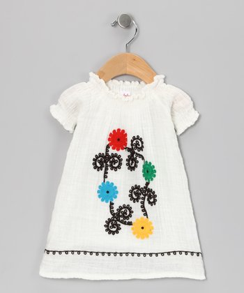 White Flower Organic Dress - Infant