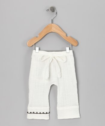 White Flower Organic Pants - Infant