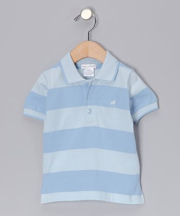 Blue & Pastel Blue City Stripe Polo - Infant, Toddler & Boys