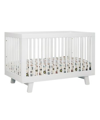 White Hudson 3-In-1 Convertible Crib & Toddler Rail