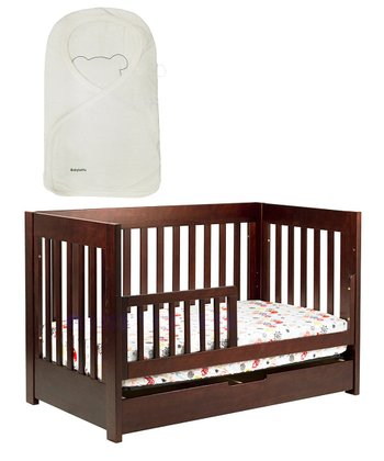 babyletto Dark Mercer Crib & Organic Snuggle Wrap