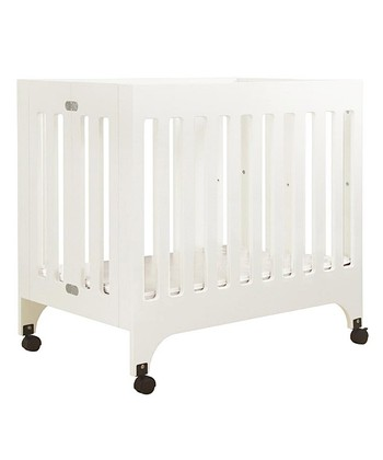 White Grayson Portable Mini Crib & Mattress Pad