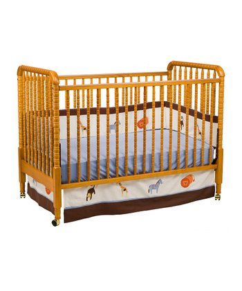 Oak Jenny Lind Convertible Crib & Toddler Rail