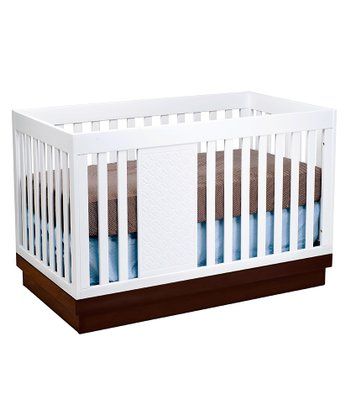 babyletto Espresso & White Harlow 3-in-1 Convertible Crib