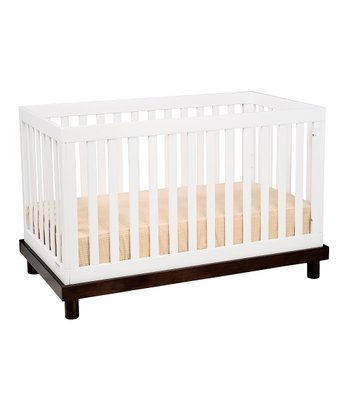 White & Espresso Olivia 3-in-1 Convertible Crib