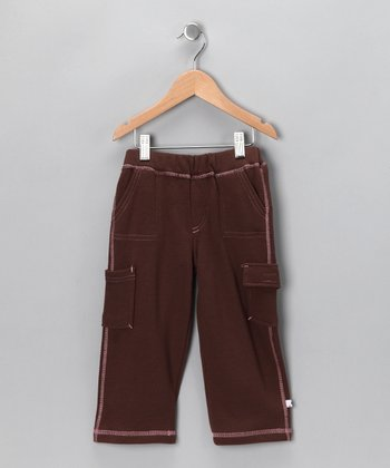 Chocolate & Petal Soybean-Blend Cargo Pants - Toddler