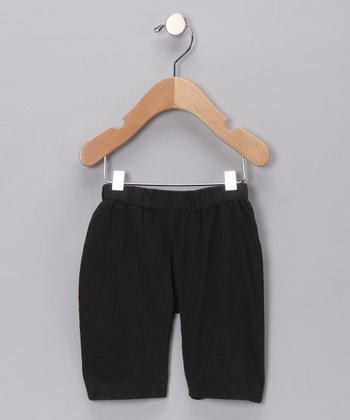 Black Pocket Organic Pants - Infant