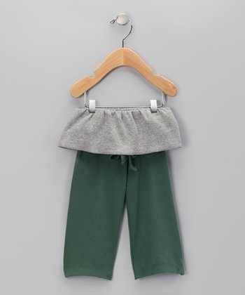 Olive Fisherman Organic Pants - Infant