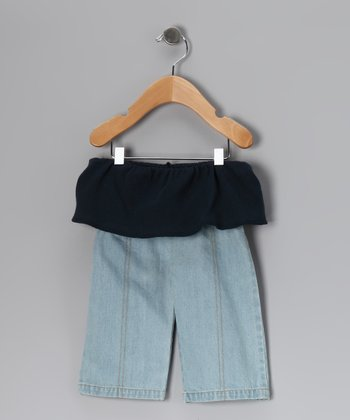 Light Wash Organic Fisherman Jeans - Infant