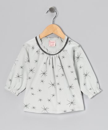 Gray Starburst Organic Top - Girls