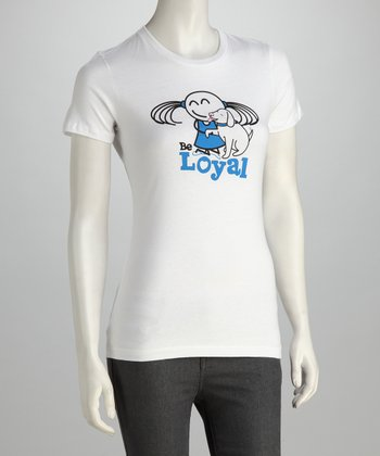 White 'Be Loyal' Semi-Fit Tee - Women