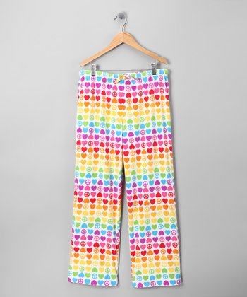 Rainbow Hope Heart Pajama Pants - Kids