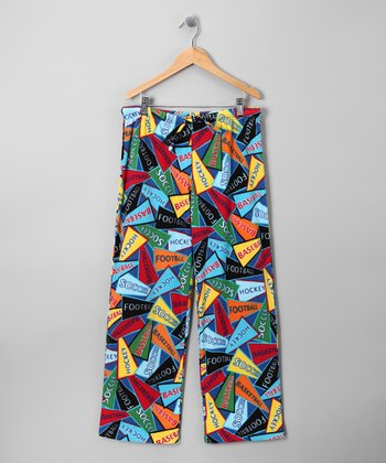 Blue Flag Zack Pajama Pants - Kids