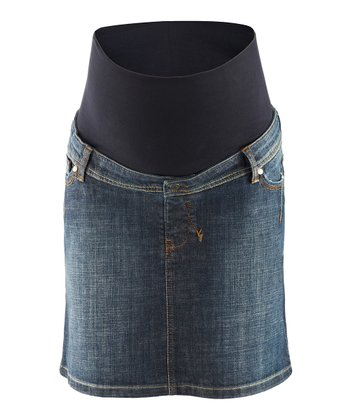 Denim Neeli Over-Belly Maternity Skirt