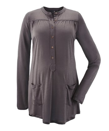 Brown Raquel Maternity Henley
