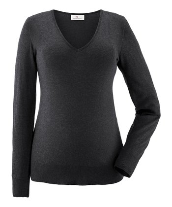 Anthracite Valeska Maternity V-neck Sweater
