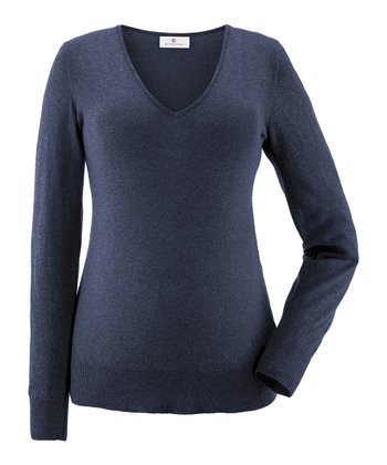 Night Blue Valeska Maternity V-neck Sweater
