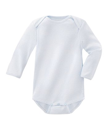 Soft Blue Stripe Bodysuit - Infant