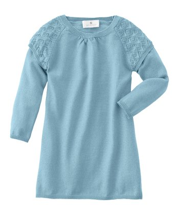Deep Aqua Pointelle Dress - Infant, Toddler & Girls