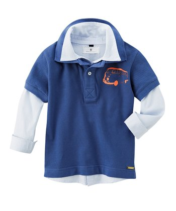 Ink Blue Van Layered Polo - Infant & Boys