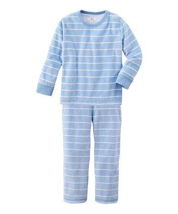 Medium Blue Stripe Tee & Pants - Infant & Boys