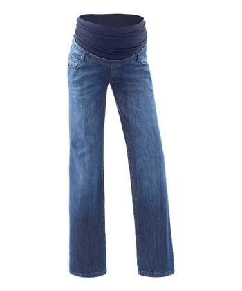 Denim Maya Over-Belly Maternity Flare Jeans