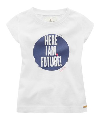 White 'Here I Am Future' Tee - Infant, Toddler & Girls