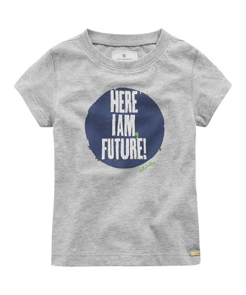 Gray Mélange 'Here I Am Future' Tee - Infant, Toddler & Boys