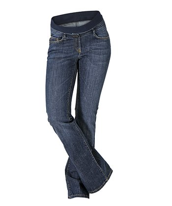 Denim Mary Mid-Belly Maternity Bootcut Jeans