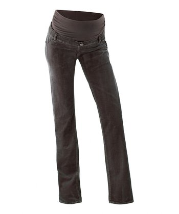 Dark Brown Maya Over-Belly Maternity Corduroy Pants