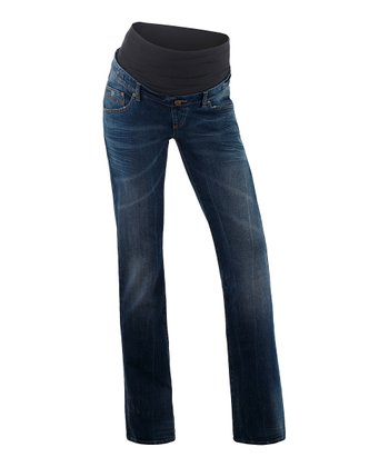 Denim Maya Over-Belly Maternity Straight-Leg Jeans