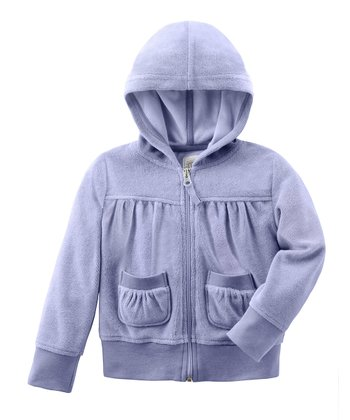 Violet Water Terry Zip-Up Hoodie - Infant