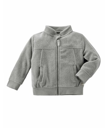 Gray Terry Jacket - Infant
