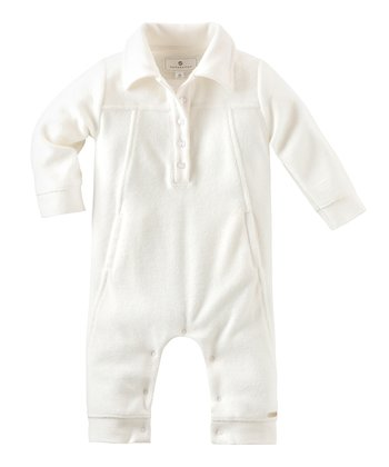 Off-White Terry Playsuit - Infant