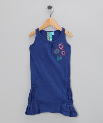 Periwinkle Floral Dress - Toddler & Girls
